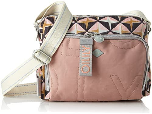 Charm Geometrical Shoulderbag Shz, Womens Shoulder Bag, Pink (Rose), 12x18x24 cm (B x H T) Oilily