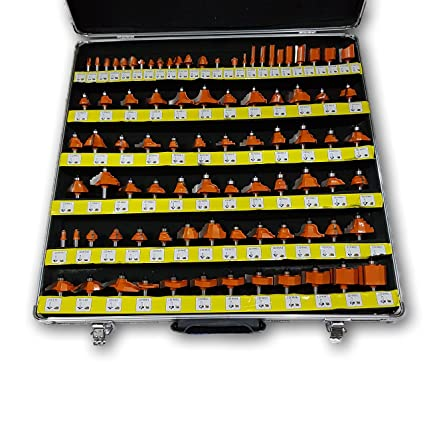 Tools Centre Industrial 87pcs Router Bit Set 8mm Shank With