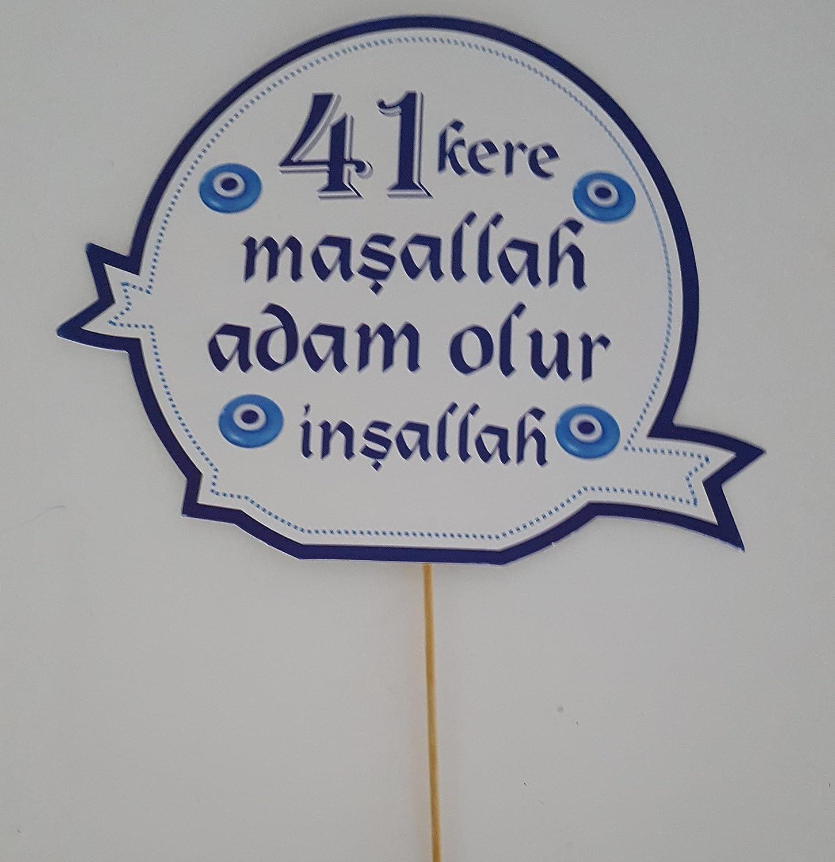 41 kere masallah Konusma Balonu D/üg/ün S/ünnet Beschneidung Hochzeit Masallah Nazar S/ünnet Kiyafeti