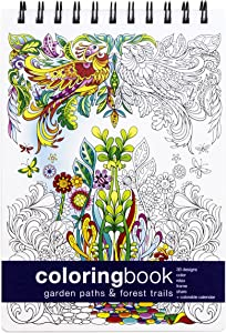 Action Publishing Coloring Book: Garden Paths & Forest Trails · Garden and Woodland Scenes, Intricate Animal and Plant Designs for Stress Relief, Relaxation and Creativity · Small (7 x 8.5 inches)