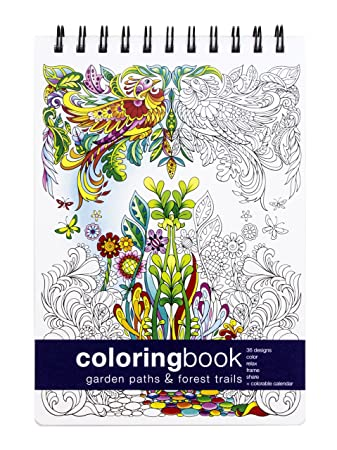 Ipad Coloring Book Le Pencil : Amazon.com: garden paths and forest trails coloring book small