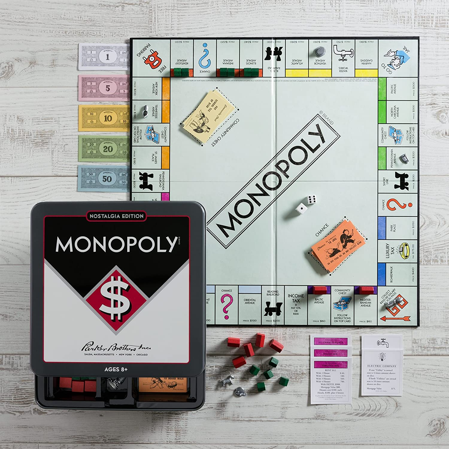 Monopoly Nostalgia Tin by Winning Solutions by Winning Solutions: Amazon.es: Juguetes y juegos