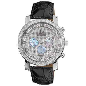 3405e4481 Image Unavailable. Image not available for. Color: Joshua and Sons Men's  JS-28-01 Dazzling Diamond Chronograph Watch