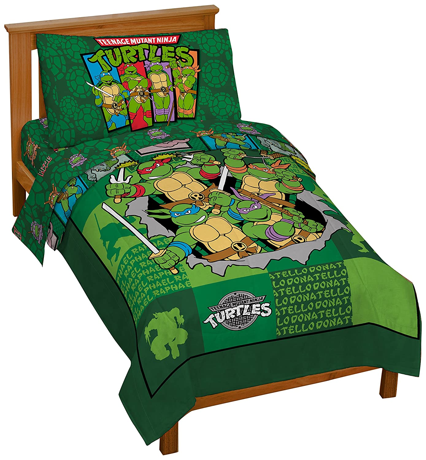 Nickelodeon Teenage Mutant Ninja Turtles Bed Set for Toddlers