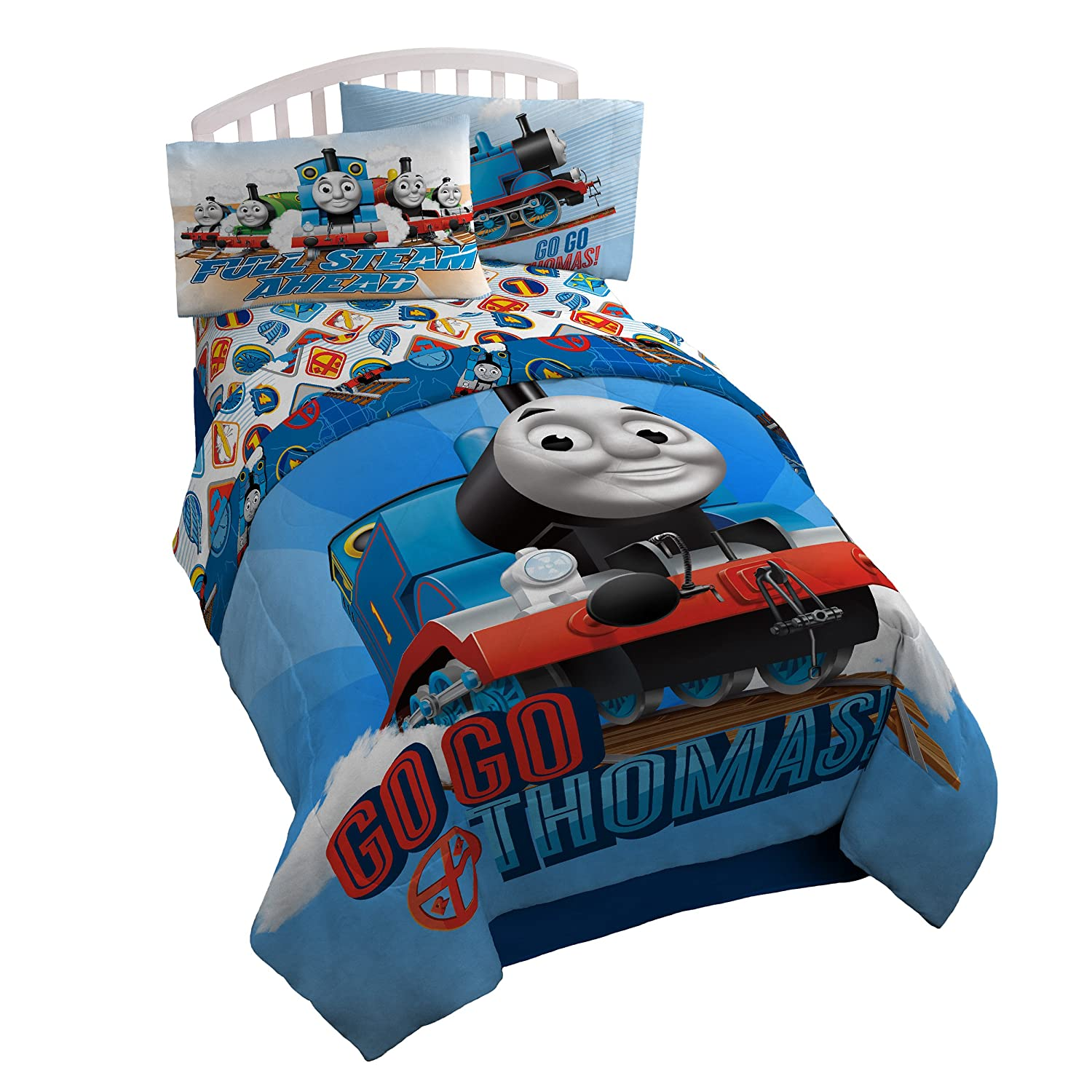 Thomas the Tank Engine 'Go Go' Microfiber Twin Comforter Jay Franco & Sons Inc 3890534