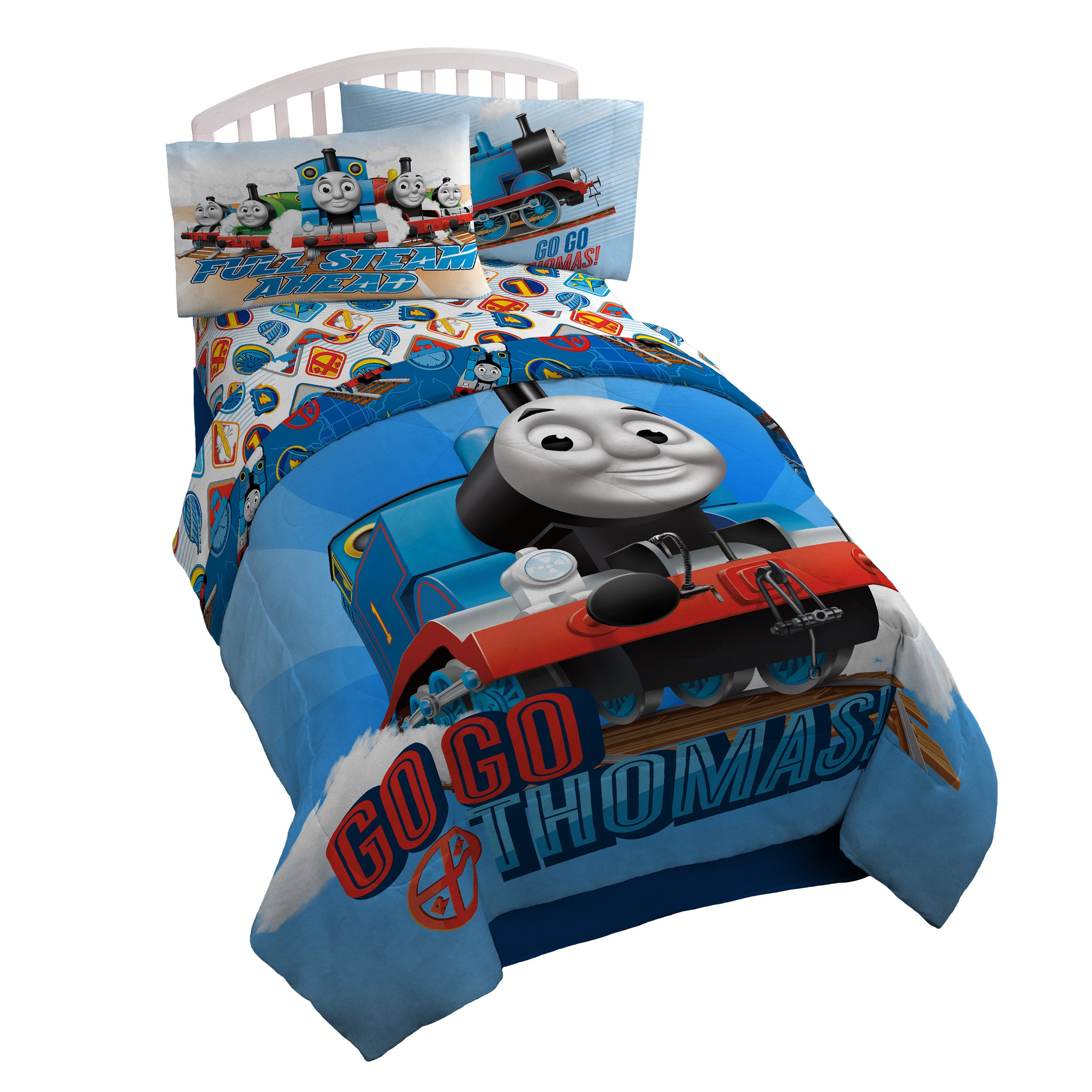 Thomas the Tank Engine 'Go Go' Microfiber Twin Comforter by Mattel