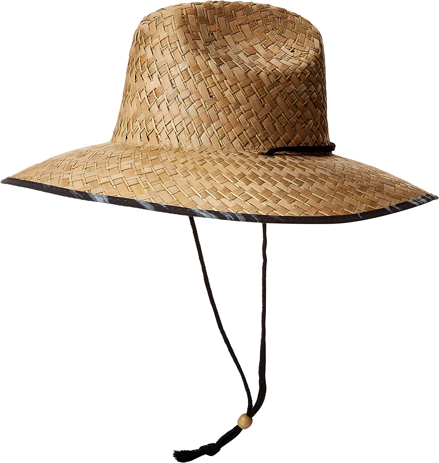 San Diego Hat Co. Men's Straw Lifeguard Hat with Adjustabel Chin Cord