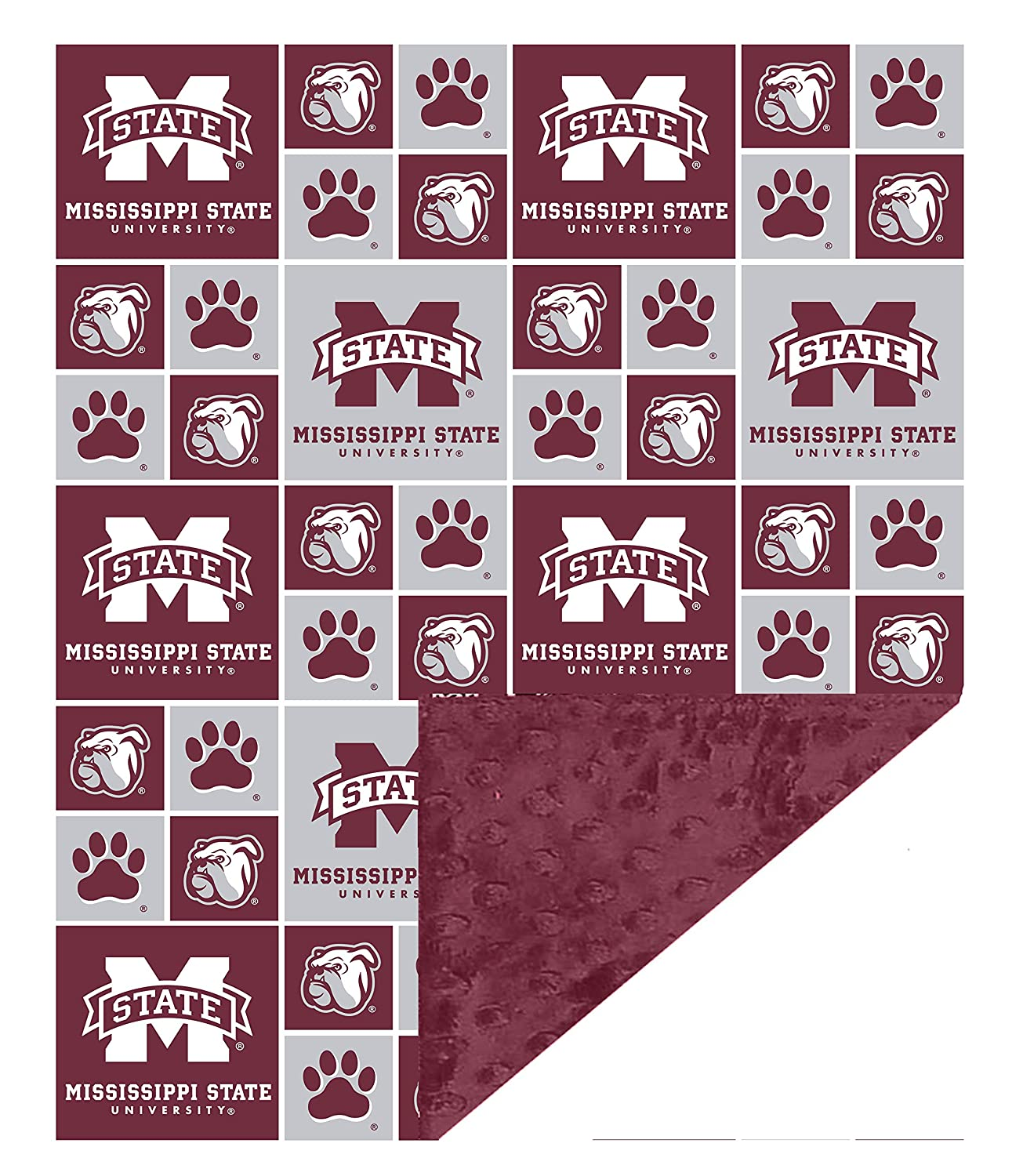 """Future Tailgater Mississippi State Bulldogs Baby/Toddler Minky Blanket (36"""" x 28"""")"""