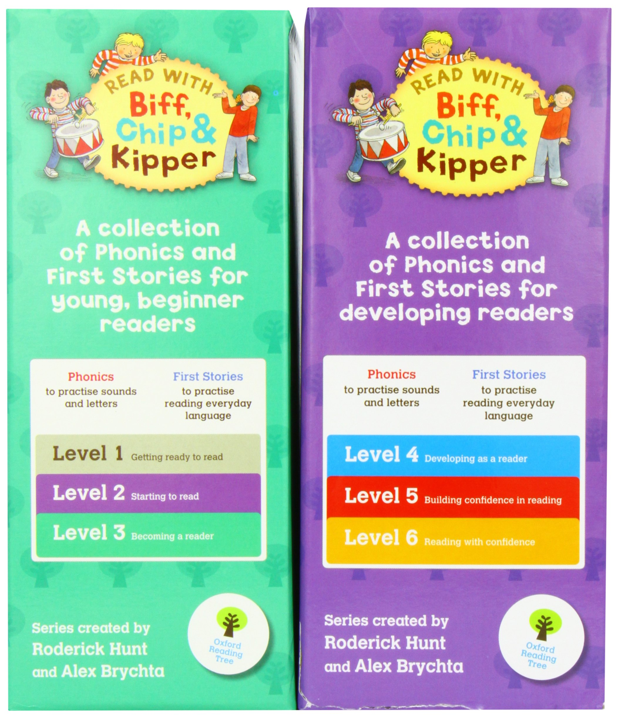 Read At Home Biff Chip Kipper Collection 48 Books Set Pack 24 X Phonics Books And 24 X First Stories Books 9788033655152 Amazon Com Books