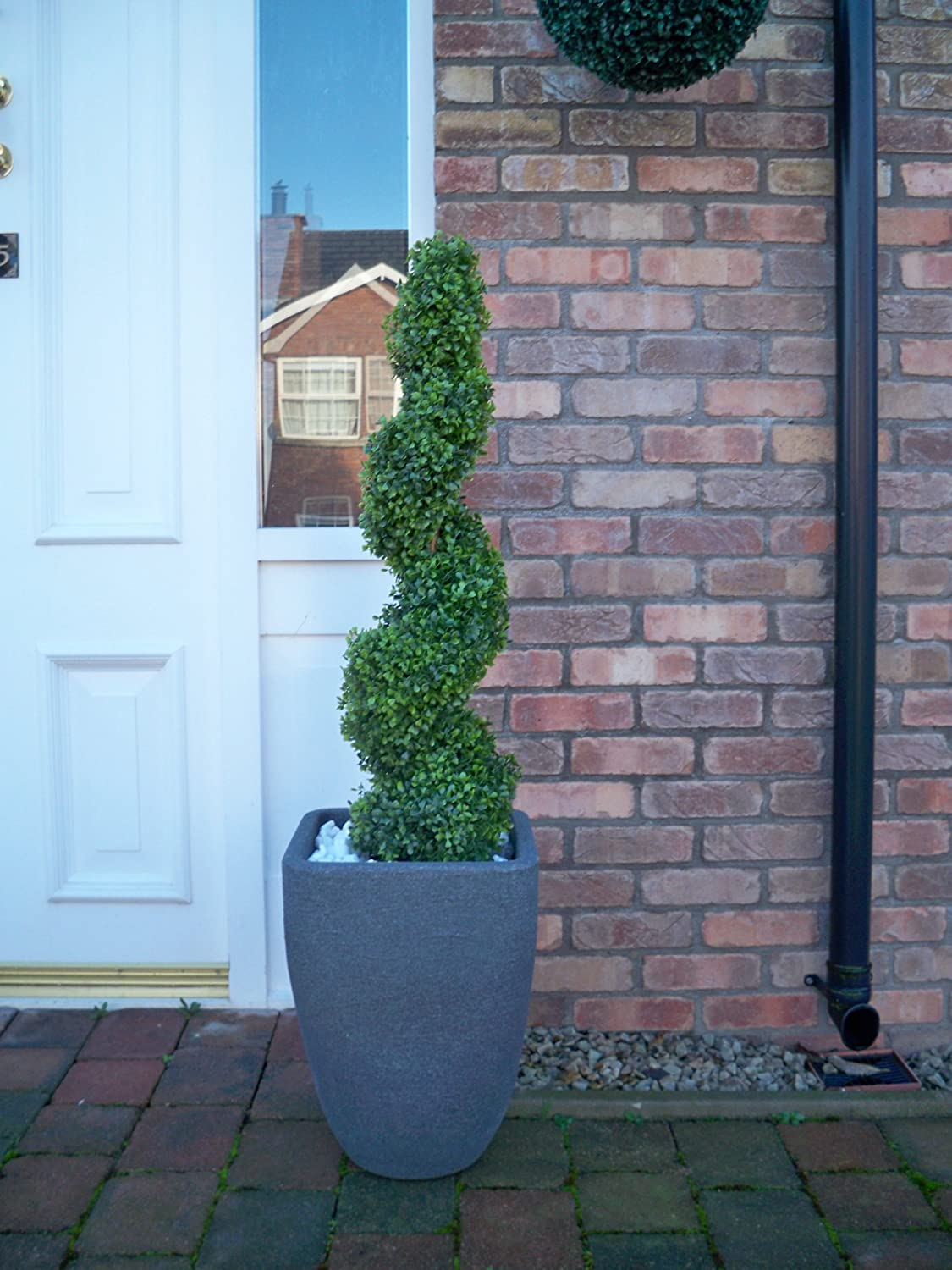 Best Artificial (TM) 3ft 90cm Boxwood Buxus Topiary Spiral Tree **UV Fade Protected**
