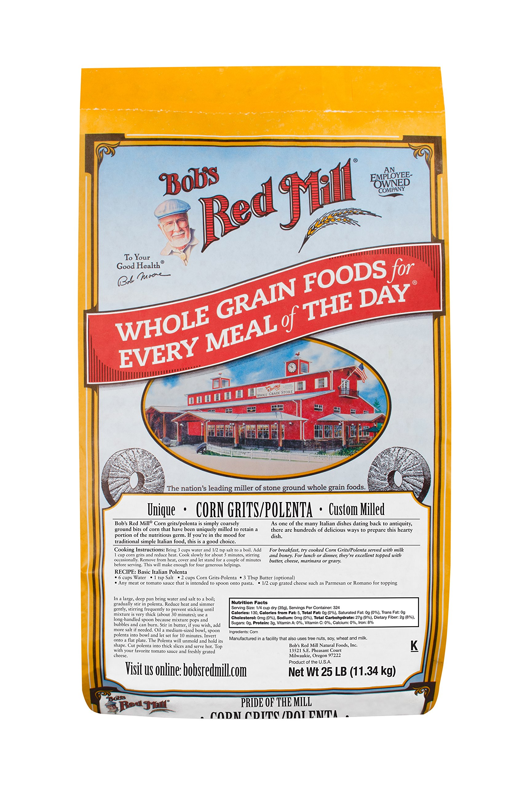 Bob's Red Mill Corn Grits/Polenta, 25 Pound by Bob's Red Mill