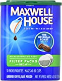 Maxwell House Original Roast Ground Coffee, Decaffeinated Filter Packs, 4 Count, 21.2 Ounce