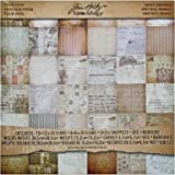 French Industrial Paper Stash by Tim Holtz Idea-ology, 36 Sheets, Double-Sided Cardstock, Various Sizes, Multicolored, TH93052