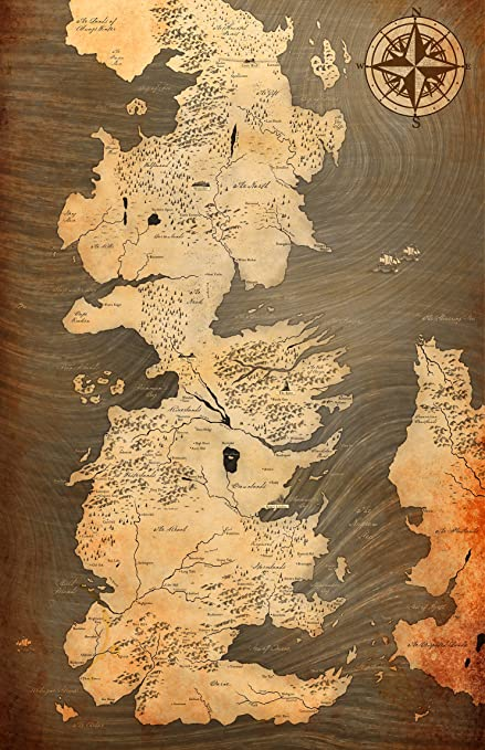 graphic about Printable Map of Westeros named : NLopezArt Westeros Traditional Style and design Map against Sport