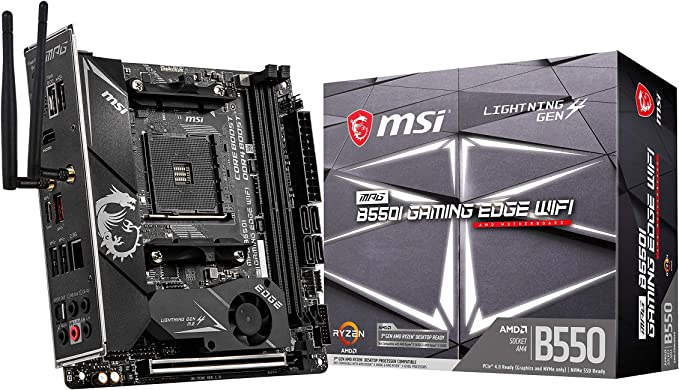 Msi Mpg B550i Gaming Edge Wifi Amd Am4 Ddr4 M 2 Usb 3 2 Computer Zubehör