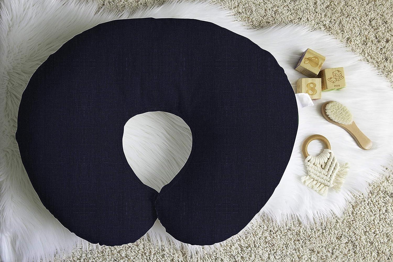 Linen Nursing Pillow Cover in Cobalt