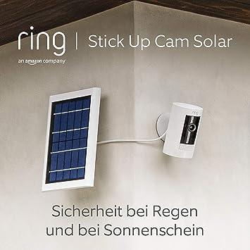 Ring Stick Up Cam Solar Von Amazon Hd Sicherheitskamera Mit Gegensprechfunktion Funktioniert Mit Alexa Mit Kostenlosem 30 Tägigem Probeabonnement Von Ring Protect Weiß Alle Produkte