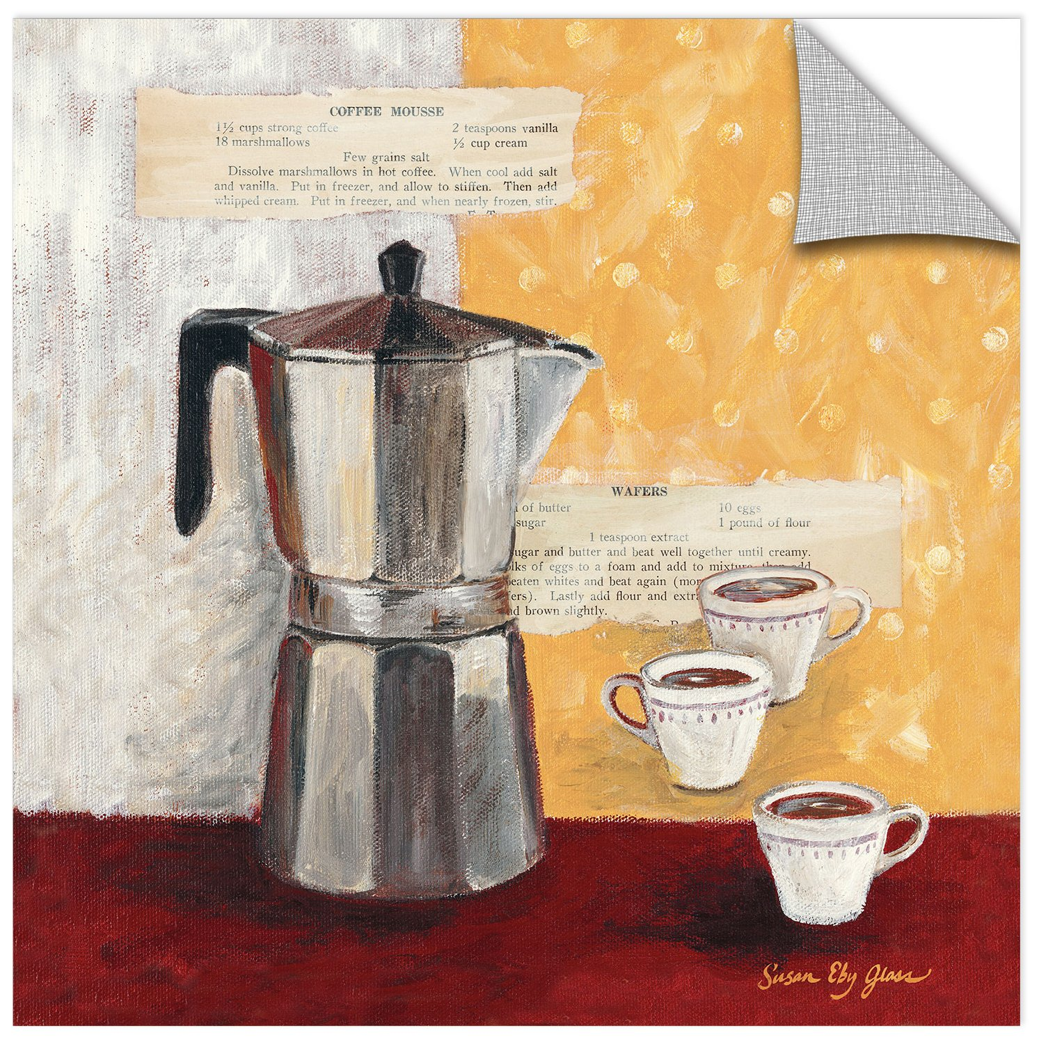 Susan Eby Glass Brew It Up Removable Wall Art Mural 18X18