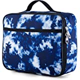 Tie Dye Lunchbox for Boys, Girls by Fenrici, Kids Insulated Lunch bag, Perfect for Preschool, K-6, Soft Sided Compartments, S