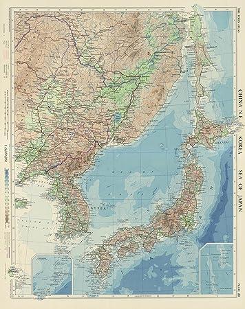 Amazon world atlas 1958 china ne korea sea of japan plate world atlas 1958 china ne korea sea of japan plate 20 v gumiabroncs Choice Image