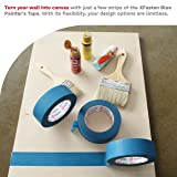 XFasten Professional Blue Painters Tape, Edge Lock, 1.5 Inches x 60Yards (3-Pack) - Produces Sharp Lines and Residue-Free Artisan Grade Clean Release Wall Trim Tape