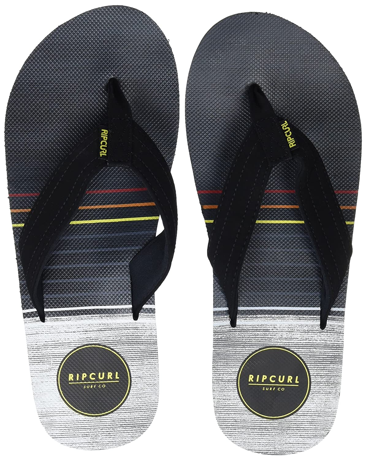 403adbbc9fd65 Amazon.com  Rip Curl Mens Ripper Flip Flops - Black   Yellow  Shoes
