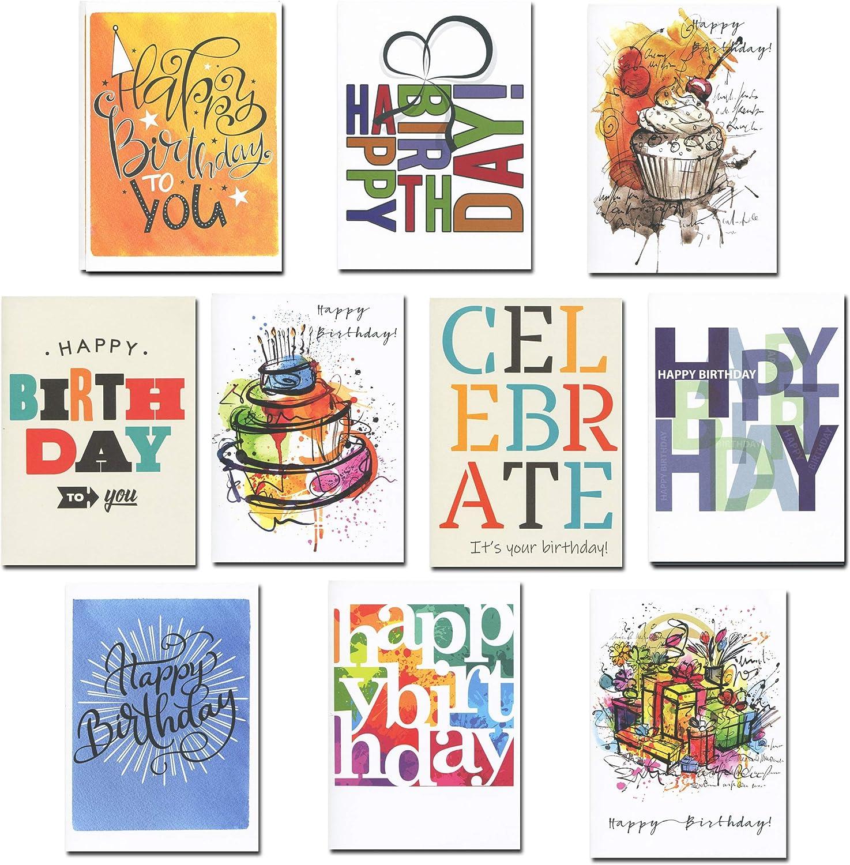 Amazon.com: Tarjetas de cumpleaños para negocios, surtido de ...