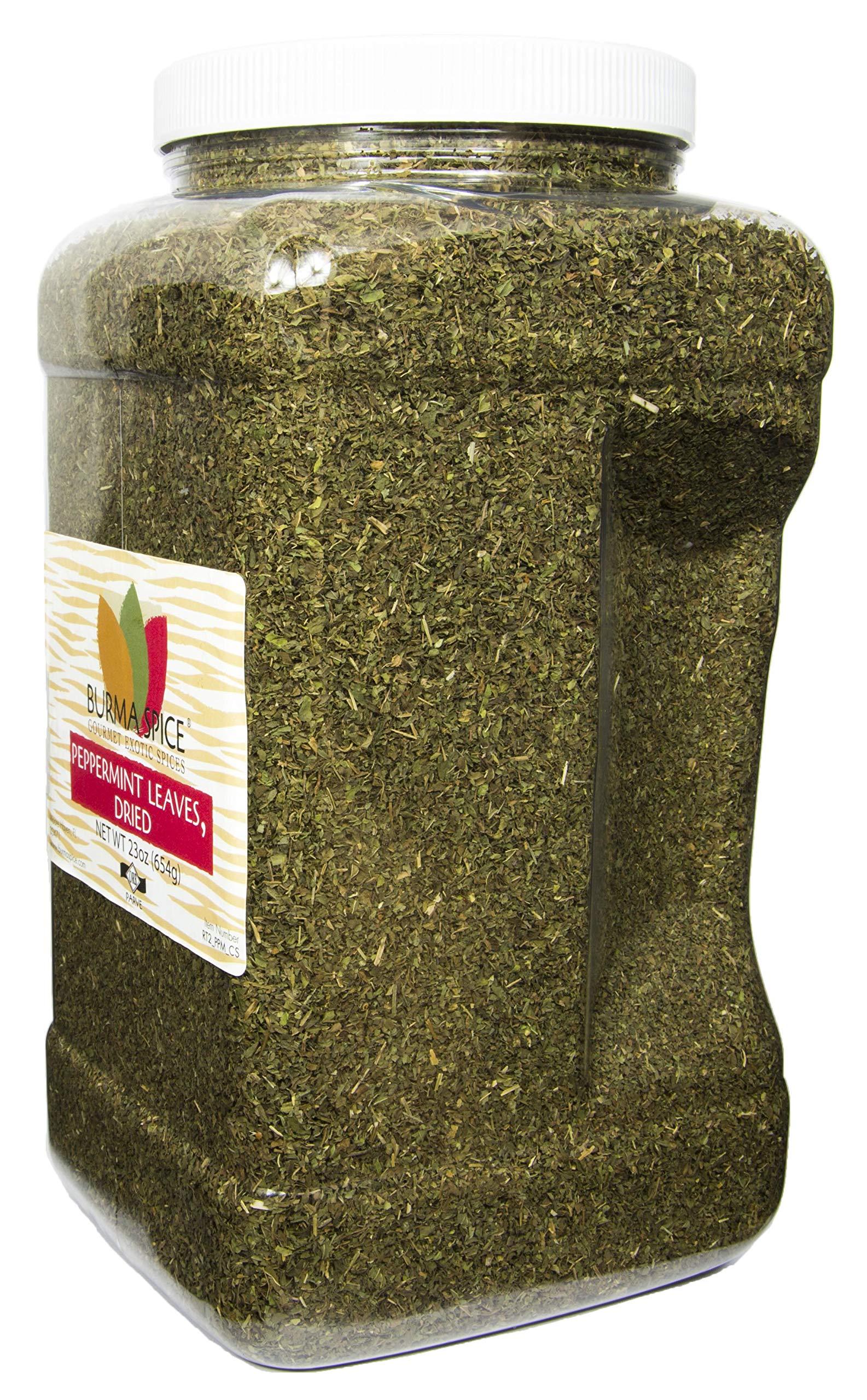 Peppermint Leaves : Dried Herb Loose Leaf Mint Tea : Caffeine-Free Kosher (23oz.) by Burma Spice (Image #2)