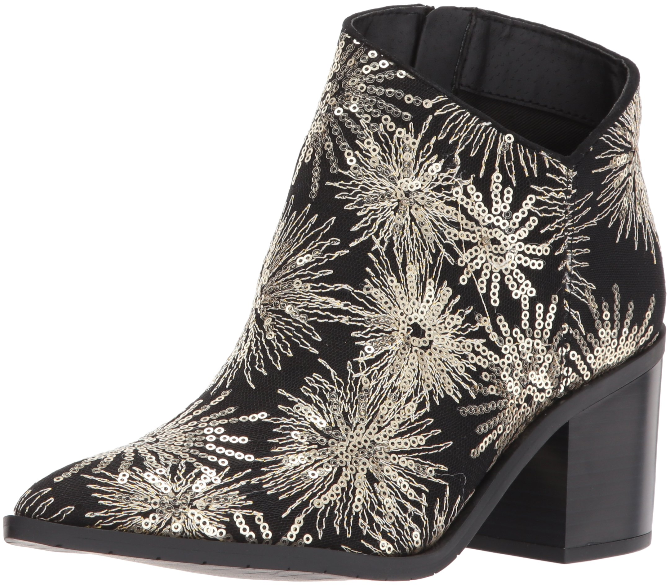 Kenneth Cole REACTION Women's Cue The Music Notch Western Style Stars Ankle Bootie, Black, 7.5 M US by Kenneth Cole REACTION