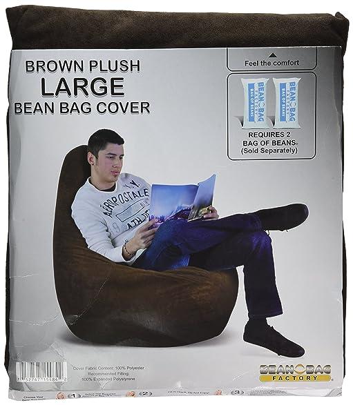 Bean Bag Factory Brown Bean Bag Chair Cover  sc 1 st  Amazon.com & Amazon.com: Bean Bag Factory Brown Bean Bag Chair Cover: Kitchen ...
