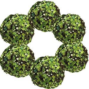 Byher Decorative Balls for Bowls, Fake Moss Ball for Vase Filler Home Decor (3.2