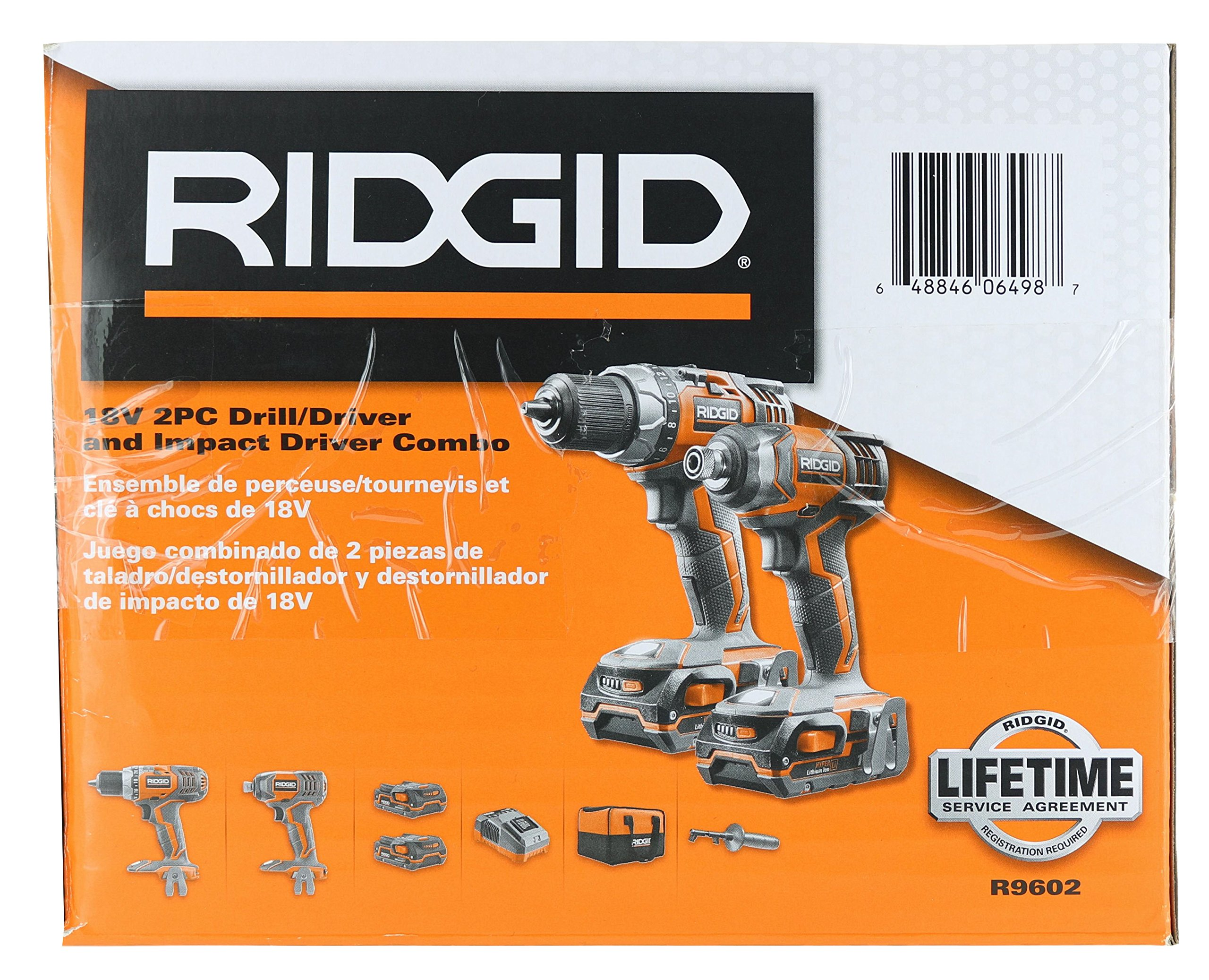 Ridgid X4 R9602 18V Lithium Ion Cordless Drill and Impact Driver Combo Kit with Soft-Sided Tool Case (2 Tools, 2 Compact Batteries, Charger, and Bag Included) by Rigid (Image #8)