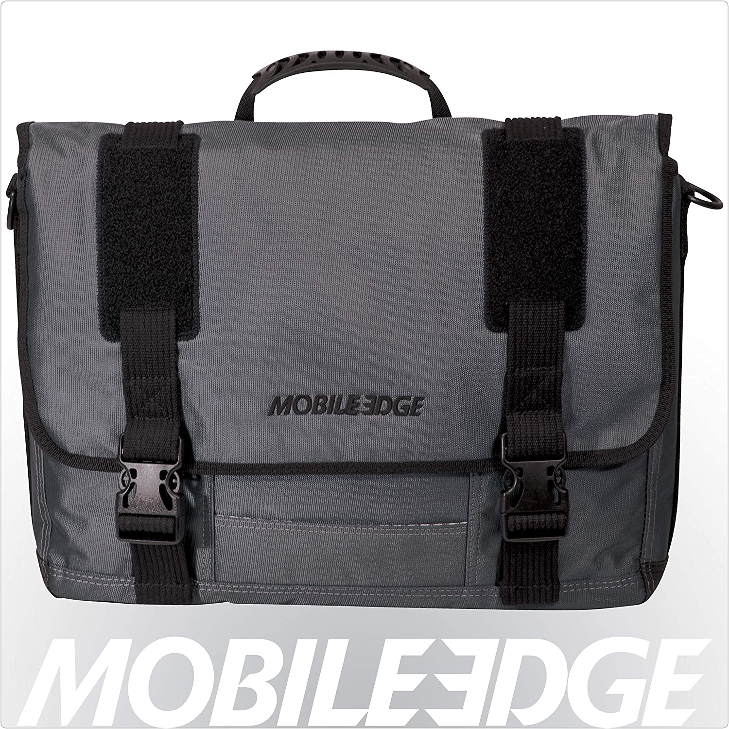 Mobile Edge Graphite Series Laptop Messenger, 17.3 Inch Premium Exterior Material, Dedicated Padded Computer Compartment, Graphite, for Men, Women, Business, Students MEGME