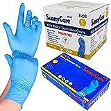 1000 SunnyCare #8203 Blue Nitrile Medical Exam Gloves Powder Free Chemo-Rated (Non Vinyl Latex) 100/box;10boxes/case Size: La
