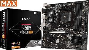 MSI ProSeries AMD Ryzen 2ND and 3rd Gen AM4 M.2 USB 3 DDR4 D-Sub DVI HDMI Micro-ATX Motherboard (B450M PRO-VDH Max) (Renewed)