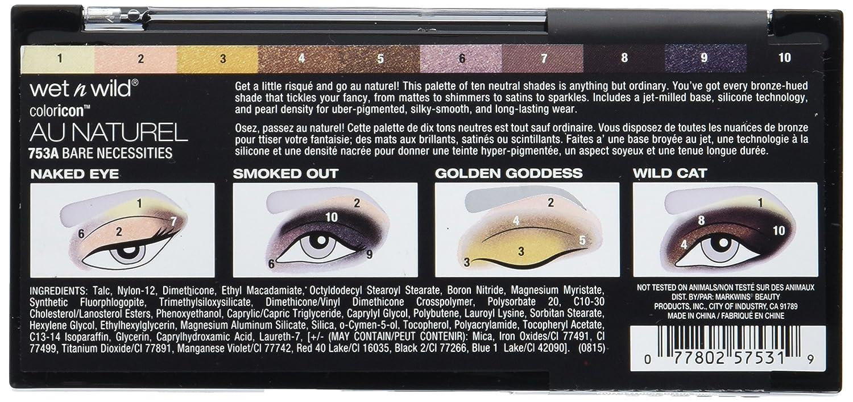 Wet N Wild Color Icon Au Naturel 10 Pan Eyeshadow Palette Nude Awakening 81 Gram Pack Of 3 Beauty