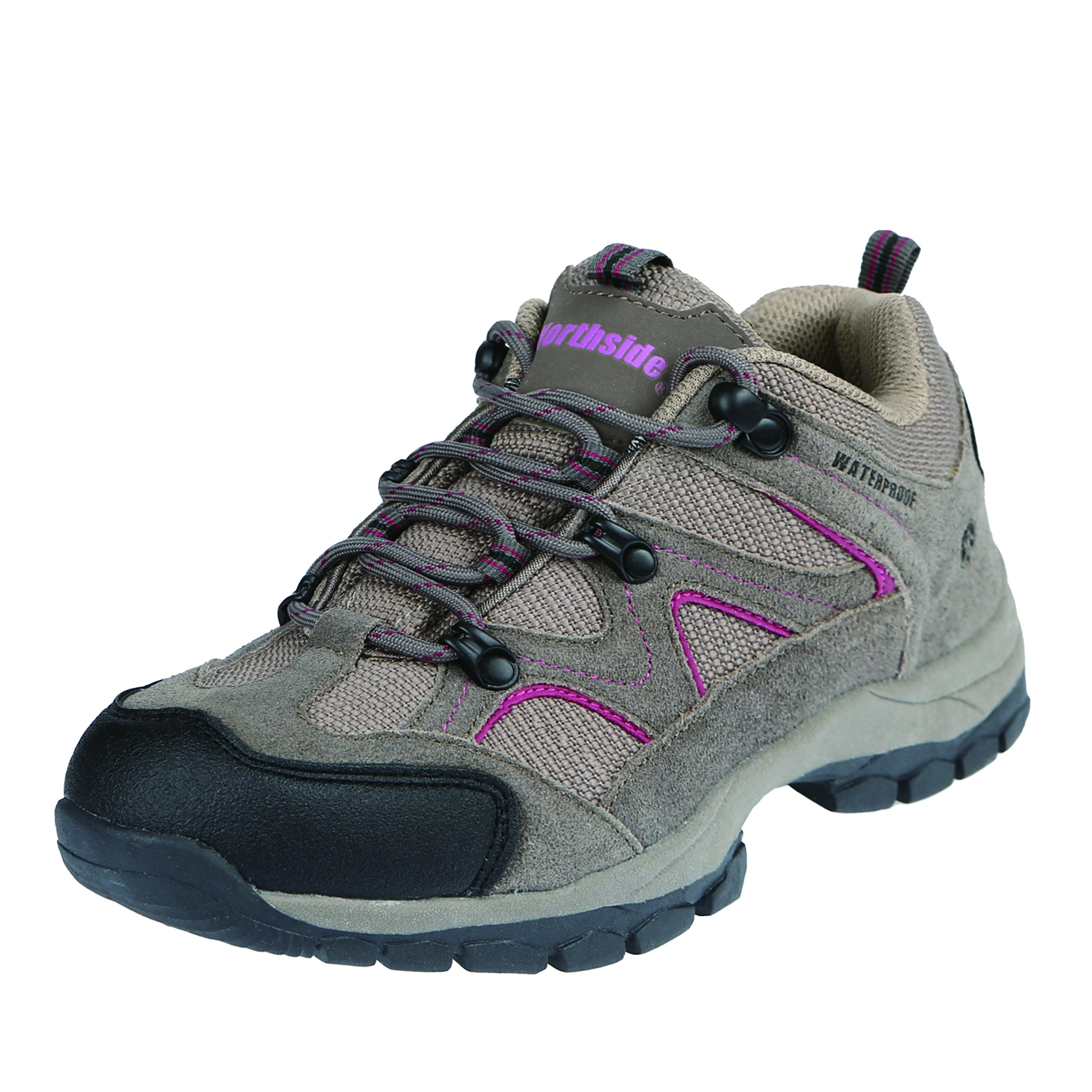 Northside Women's Snohomish Low Hiking Shoe, Stone/Berry, 9 M US