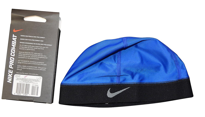 2e637b0a342 ... to buy c4d86 911ff Nike Mens Pro Combat Hyper Warm Skull Running Cap  Blue-Black ...