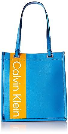 d626fd9f42 Amazon.com: Calvin Klein womens Calvin Klein Franzy Saffiano North/South  Tote, air blu multi, One Size: Clothing