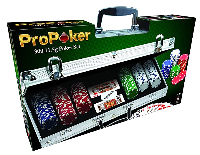 ProPoker Maletín de aluminio de 300 fichas de casino para Póquer profesional