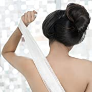 KUMA Soft Exfoliating Washcloth & Towel: Wash & Scrub Your Body · Cloth for Bath & Shower · Japanese Design & Crafted · Organic & Sustainable [Sky Blue]