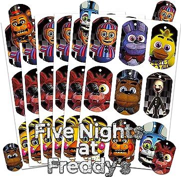 Five Nights at Freddys Party Supplies - Juego de pegatinas lenticulares (40 unidades), diseño 3D: Amazon.es: Juguetes y juegos