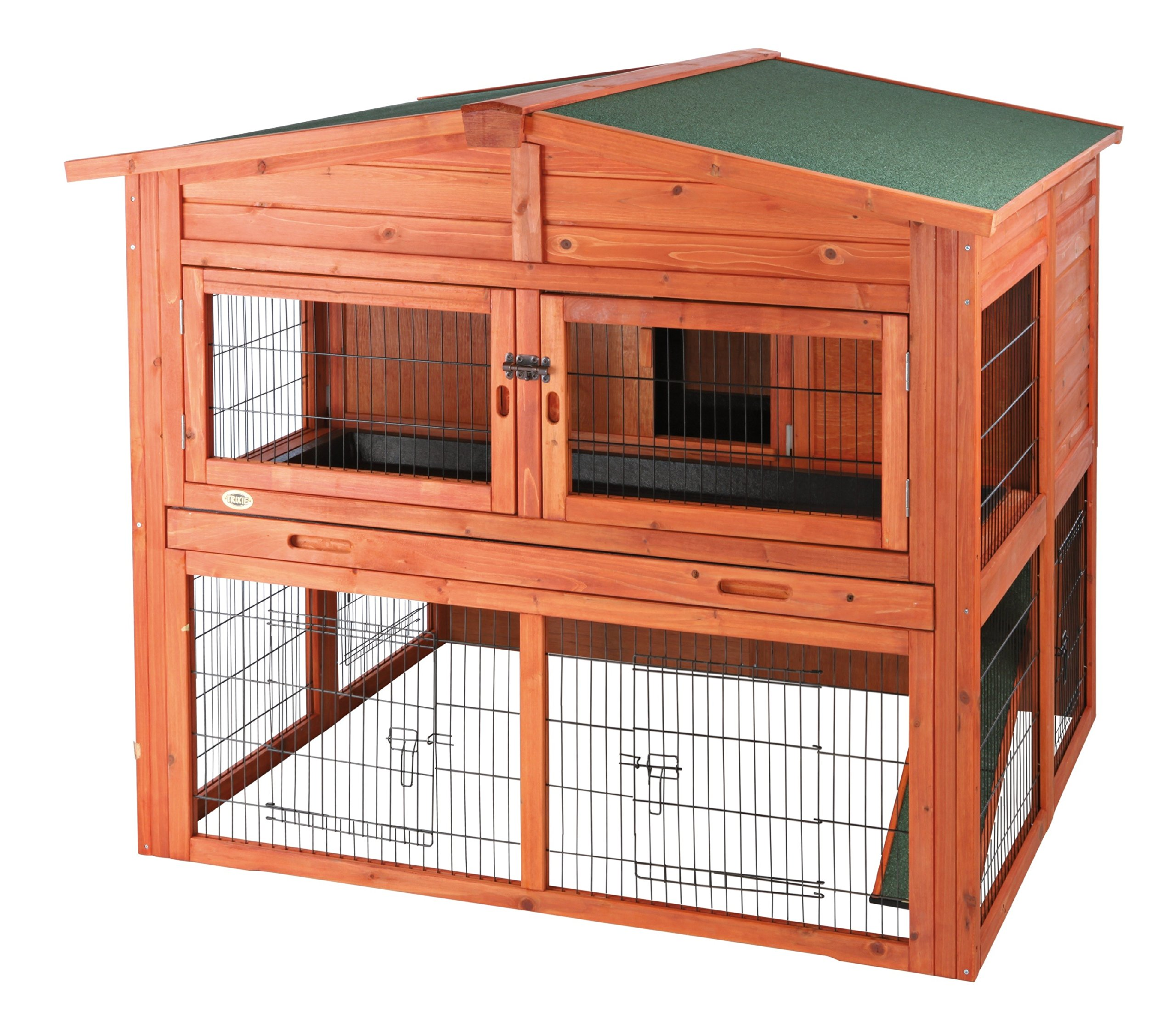 TRIXIE Pet Products Rabbit Hutch with Attic (XL), 53 x 44 x 45.25 inches