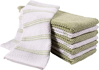 KAF Home Pantry Piedmont Dish Cloths (Set of 12, 12x12 inches), 100% Cotton, Ultra Absorbent Terry Towels