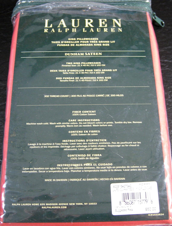 Amazon Ralph Lauren Dunham Sateen 300 Tc Poppy Set Of 2