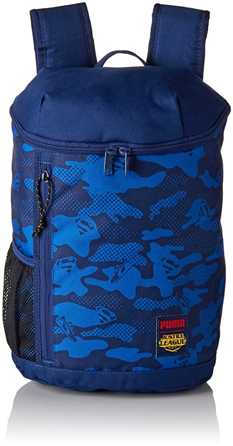 5f951193720f Puma 13 Ltrs Blue Depths Superman Laptop Backpack (7483802)  Amazon.in  Bags