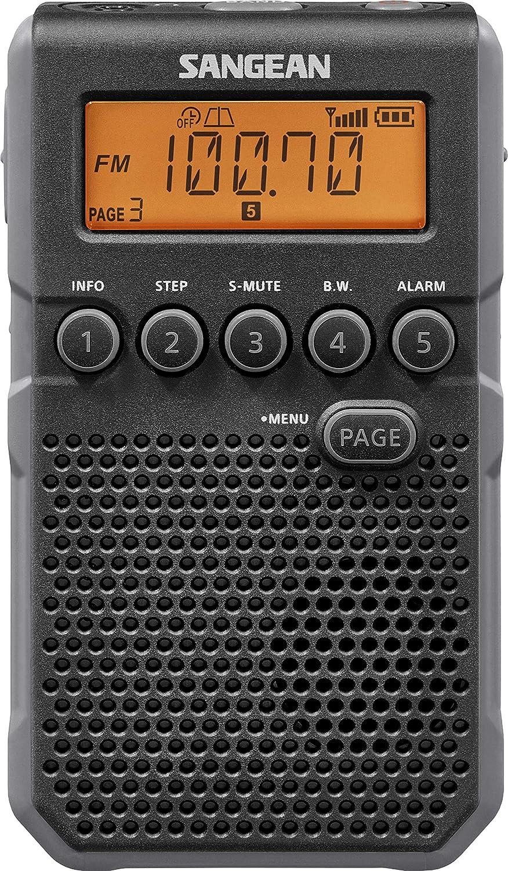 Sangean DT-800YL AM/FM / NOAA Weather Alert/Rechargeable / Alarm Clock / 45 Pre-Sets/Pocket Radio
