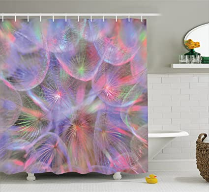 Ambesonne Psychedelic Shower Curtain By Nature Theme Dandelion Flower With Digital Effects Artwork Print