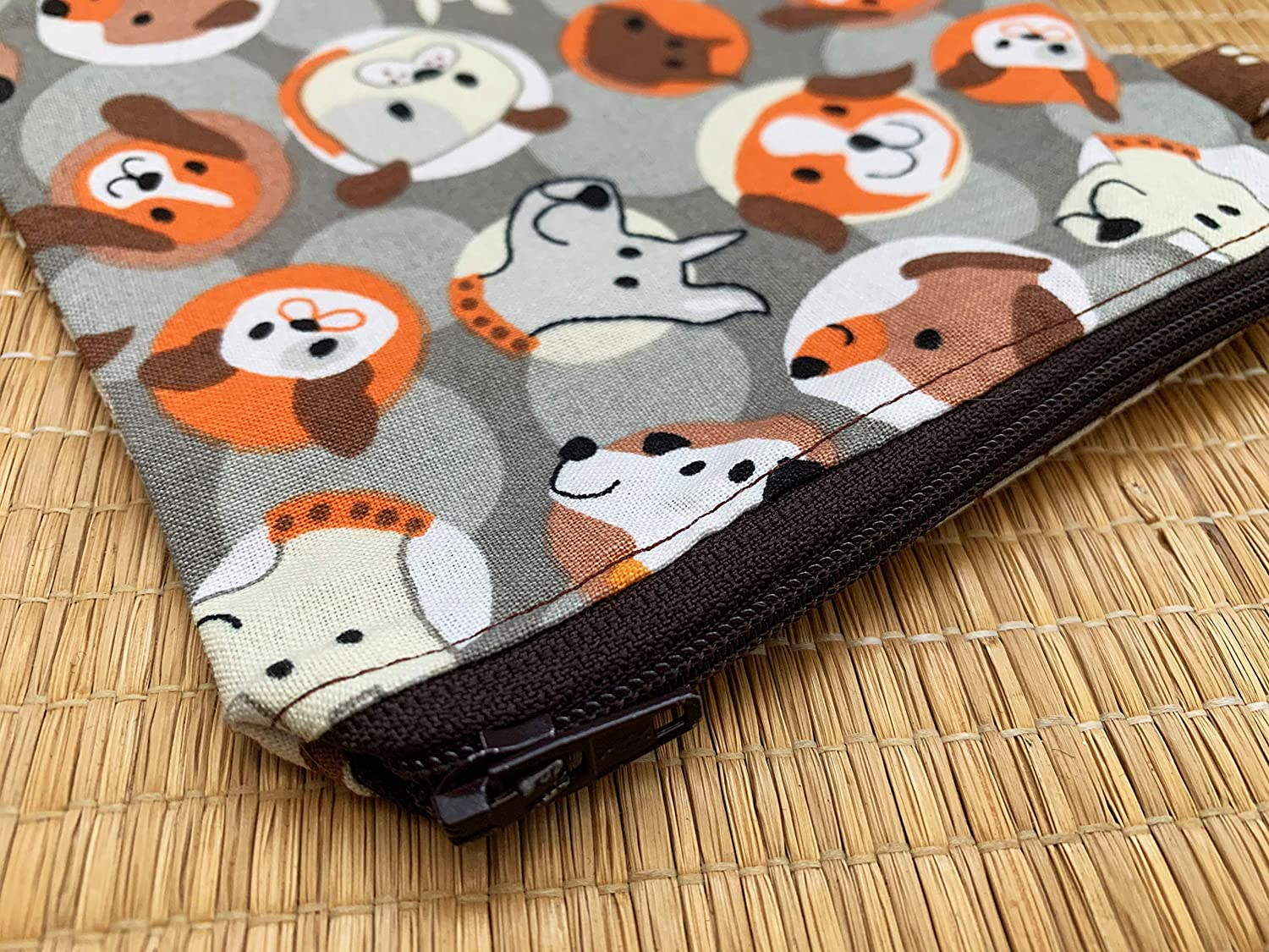 Gender Neutral Handmade in Canada Zippered Small Change Purse Treasures Holder Boys Gift Idea Puppies Pouch Dog Pattern Coin Pouch Childrens First Wallet Dog Lovers Change Purse