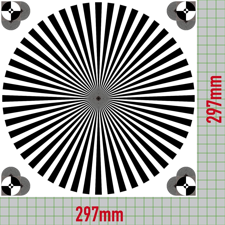 30 cm Sticker Resolution Grey Starlight Siemens Card Camera Lens Focus Test Chart